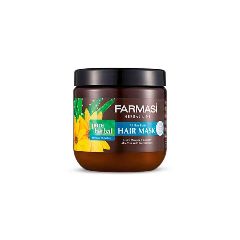 ماسک موی گیاهی فارماسی مدل Pure Herbal مناسب انواع مو 500 میل