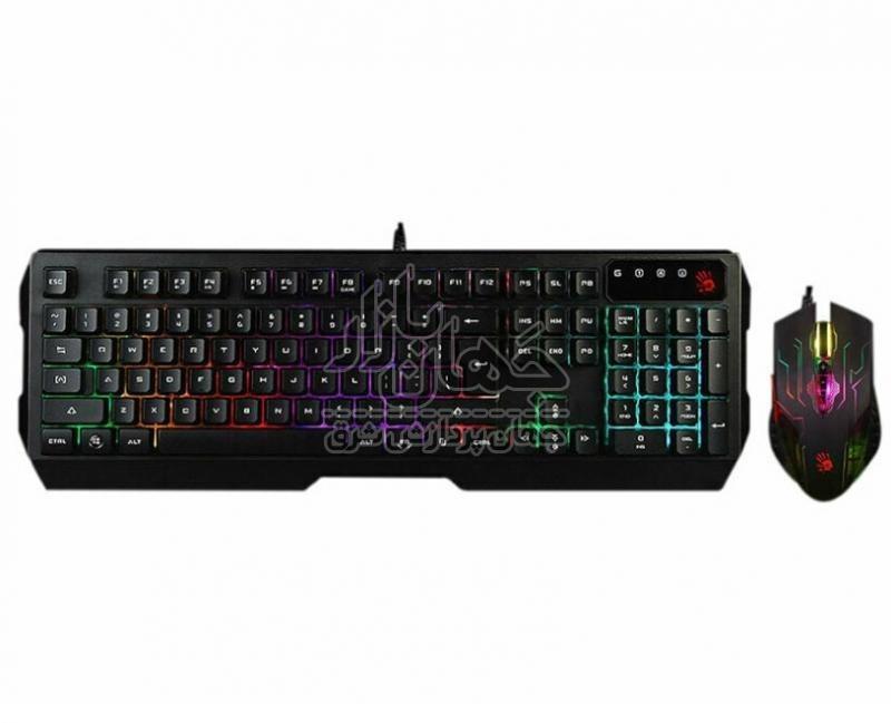 تصویر کیبورد و موس گیمینگ Bloody Q1300 ا (A4Tech Bloody Q1300 Gaming Keyboard & Mouse) (A4Tech Bloody Q1300 Gaming Keyboard & Mouse)