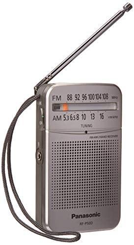تصویر Panasonic rf-p50 AC / Battery Operated Am / FM Radio قابل حمل (قطع شده توسط سازنده) (نقره ای / کوچک)