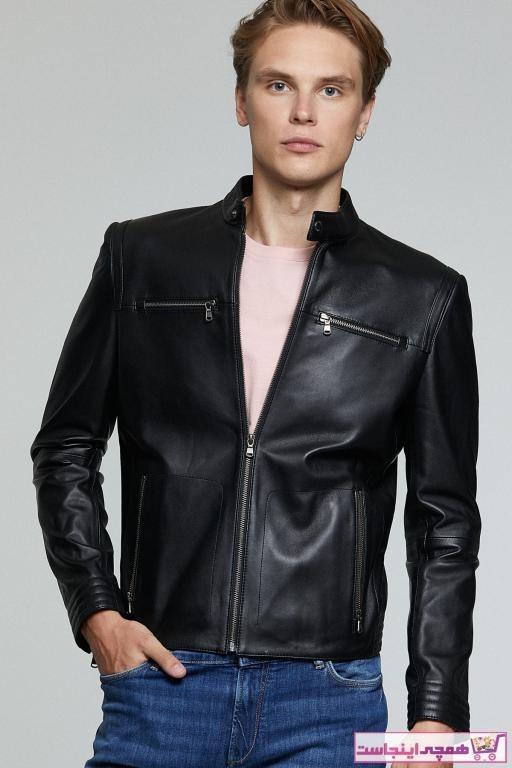 تصویر فروشگاه ژاکت چرم مردانه برند Derimod رنگ مشکی کد ty46101406