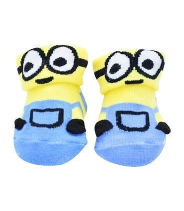 جوراب بچگانه لبه برگردان طرح مینیون آبی |