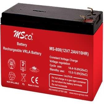باتری یو پی اس 12 ولت 7.2 آمپر ساعت ام اس کو مدل MS-808