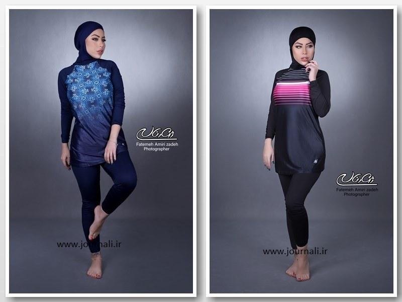 تصویر (ارسال فوری ) مایو تمام پوشیده اسلامی ایرانی کد LF8515