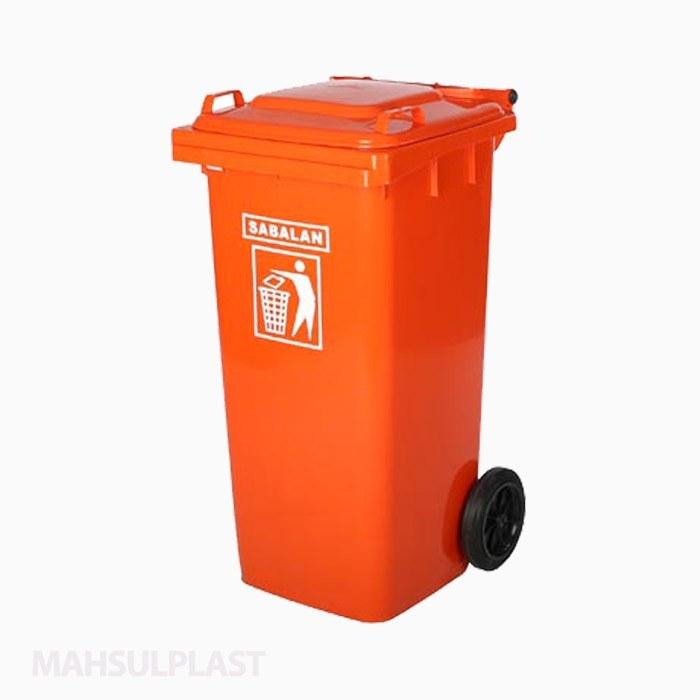 تصویر سطل زباله 120 لیتری چرخدار سبلان