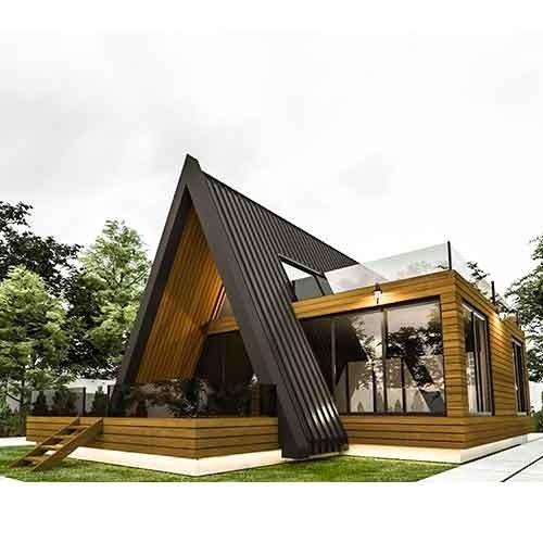 تصویر نقشه خانه چوبی مثلثی
