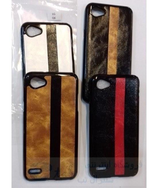 تصویر گارد پشت چرم ضربه گیر گوشی گوشی ال جی مدل q6 کیو 6 - کیفیت فوق العاده - رنگ بندی
