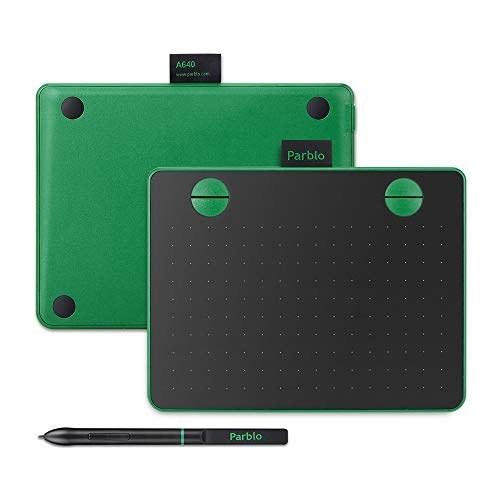 تصویر قلم نوری پاربلو مدل Parblo A640 سایز ۵.۹×۷.۲ اینچی رنگ سبز