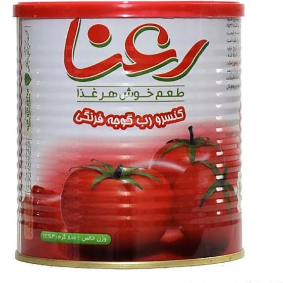 تصویر رب گوجه فرنگی رعنا آسان باز شو درب پوش دار - 800 گرم