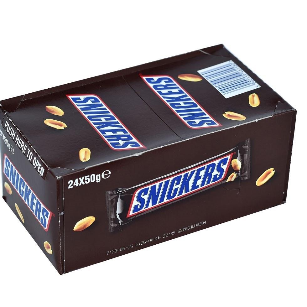 شکلات اسنیکرز بسته 24عددی Snickers Chocolate