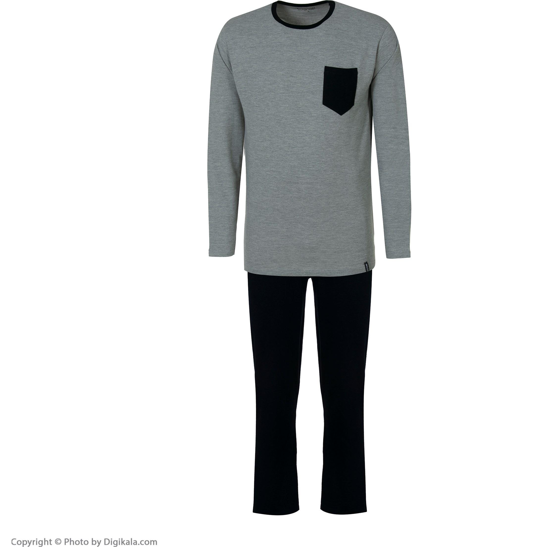 ست لباس راحتی تیشرت و شلوار مردانه ایندور مدل 1315