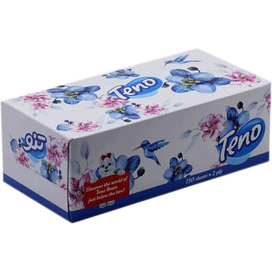 تصویر دستمال کاغذی جعبه ای تنو- ۳۰۰ برگ (۱۵۰برگ ۲لا)