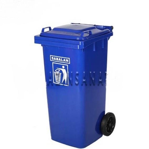 تصویر مخزن زباله 100 لیتری چرخدار