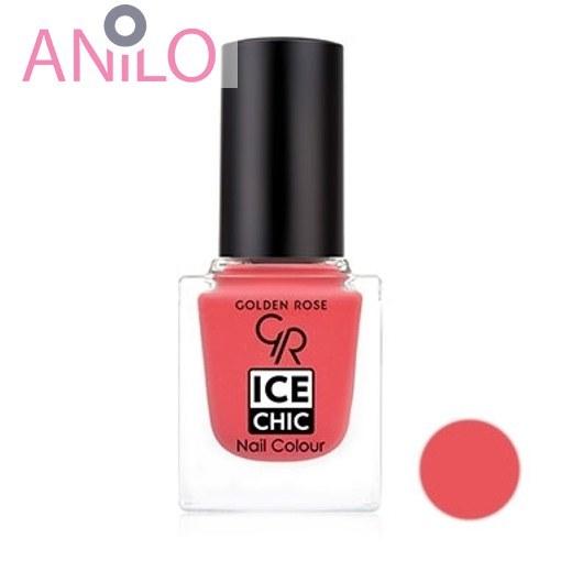 لاک ناخن آیس چیک گلدن رزGOLDEN ROSE ICE CHIC NAIL COLORشماره122