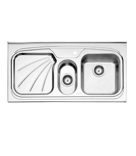 سینک ظرفشویی روکار استیل البرز پروانه 610/50 |