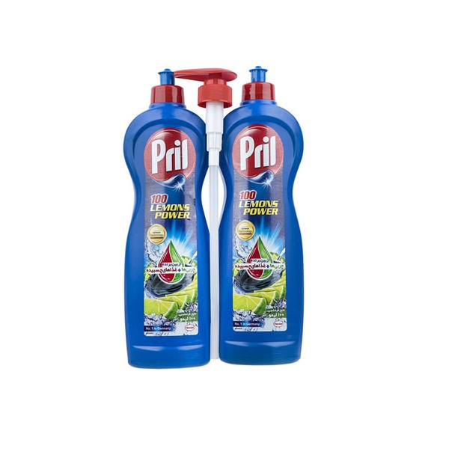 پک دو عددی مایع ظرفشویی پریل مولتی پاور لیمویی (1L) + پریل با رایحه گلهای لاوندر (1L) |