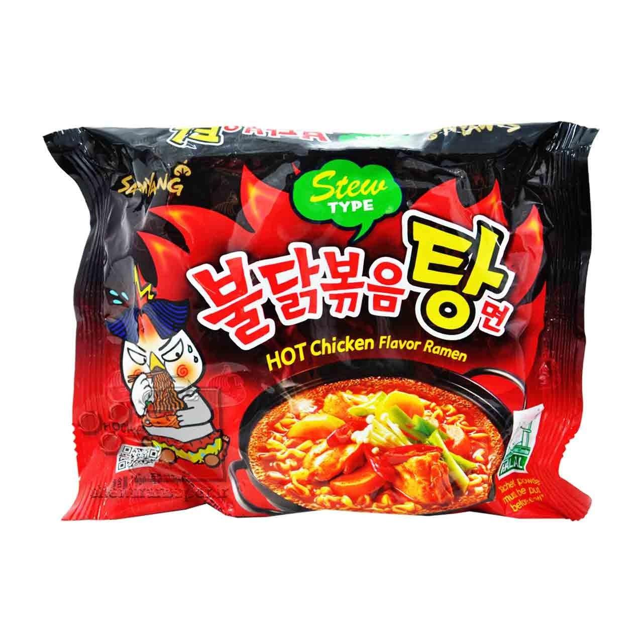تصویر نودل کره ای ( رامن ) طعم مرغ تند سوپی ۱۴۵ گرم سامیانگ – samyang