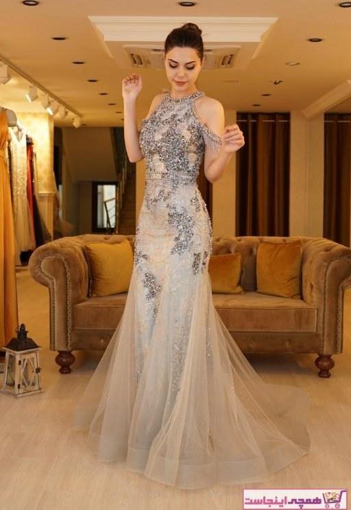 تصویر ست لباس مجلسی زنانه برند SpringStore رنگ نقره کد ty32046071