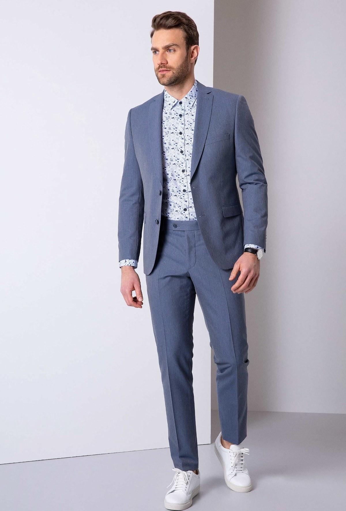 تصویر خرید کت شلوار 2021 مردانه مارک پیرکاردن رنگ آبی کد ty31628175