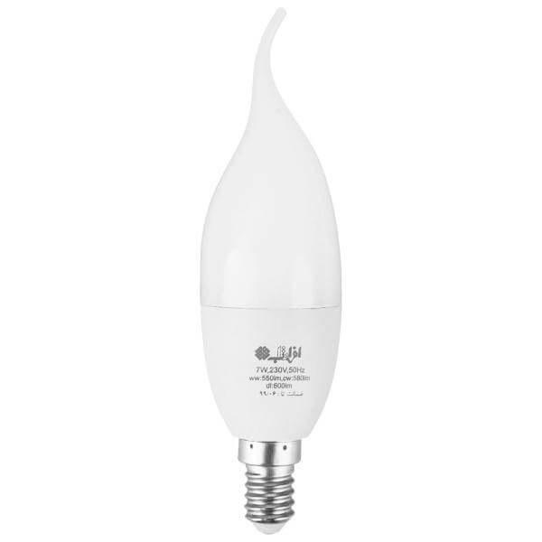 تصویر لامپ ال ای دی اشکی ۷ وات افراتاب مدل AF-C37-7W