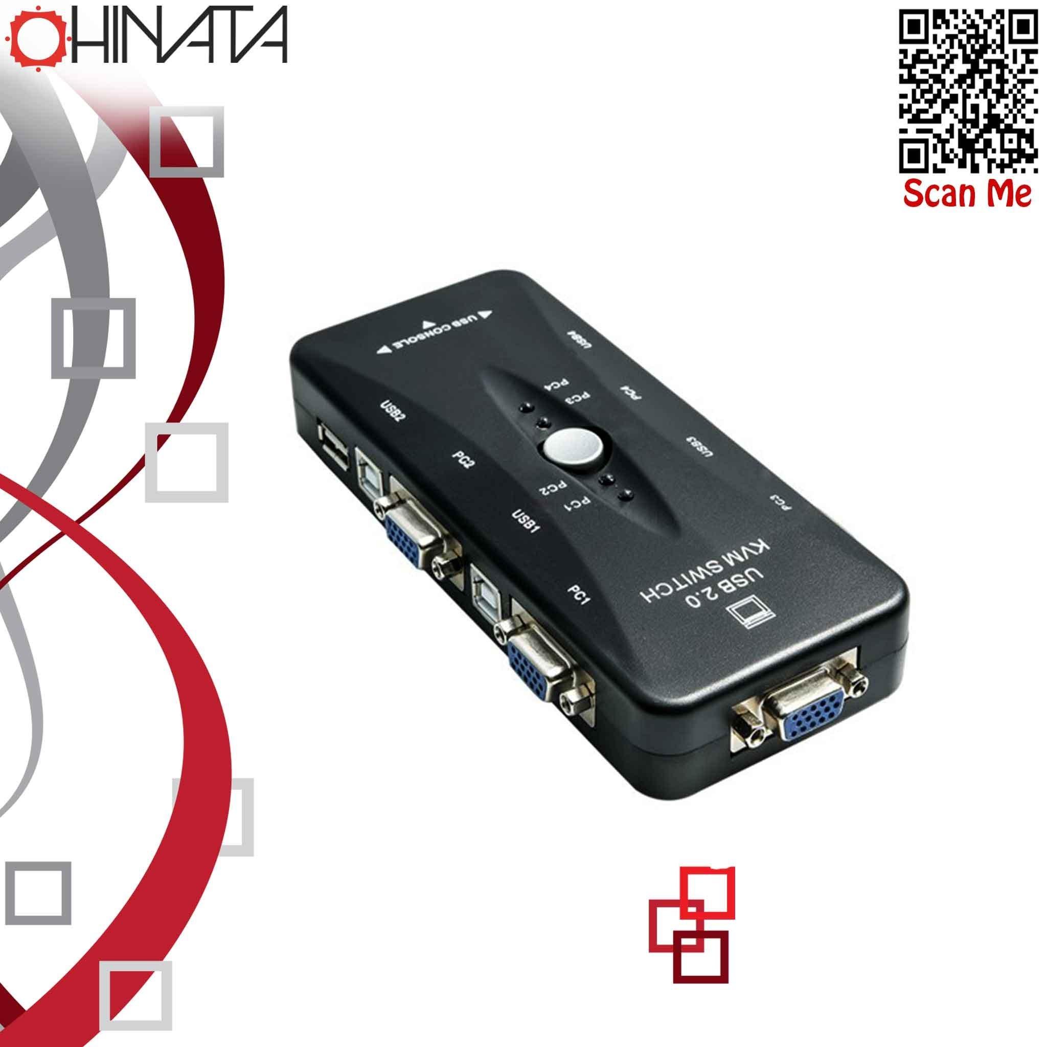 تصویر تبدیل KVM 4 PORT USB