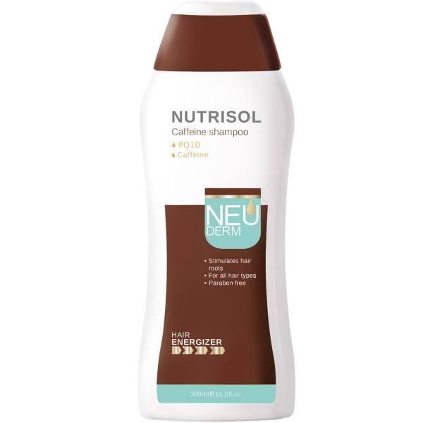 تصویر شامپو تقویت کننده کافئین مدل Nutrisol مناسب انواع مو نئودرم ا Neuderm Nutrisol Hair Shampoo 300ml Neuderm Nutrisol Hair Shampoo 300ml