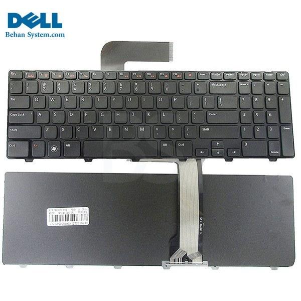 تصویر کیبورد لپ تاپ Dell مدل Inspiron N5110 به همراه لیبل کیبورد فارسی جدا گانه