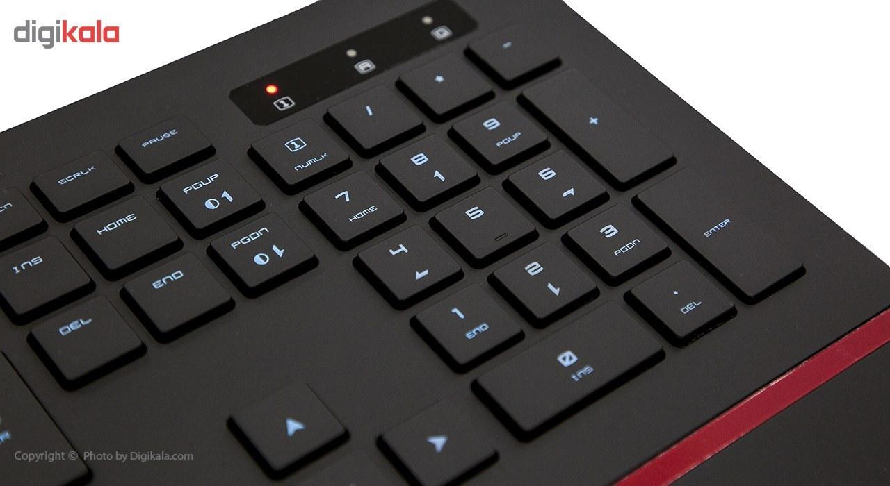 تصویر کیبورد گیمینگ ام اس آی مدل دی اس 4100 کیبورد ام اس آی INTERCEPTOR DS4100 Gaming Keyboard