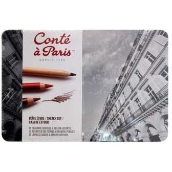 مداد زغالی 12 رنگ کنته پاریس کد 112564  