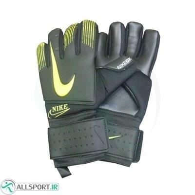دستکش دروازه بانی نایک طرح اصلی مشکی زرد Nike Goalkeeper Gloves