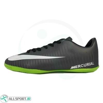 کفش فوتسال سایز کوچک نایک مرکوریال مشکی سبز Nike Mercurial