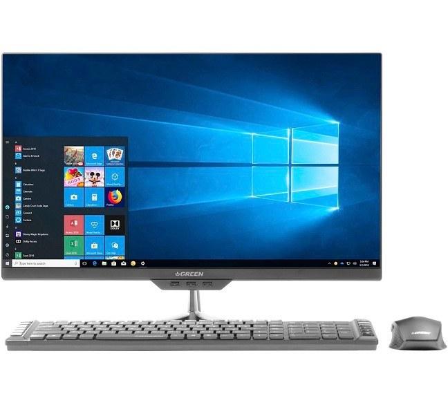 تصویر کامپیوتر آماده AIO گرین 23.8 اینچی مدل GX24 پردازنده G5400 رم 8GB حافظه 240GB SSD گرافیک Intel