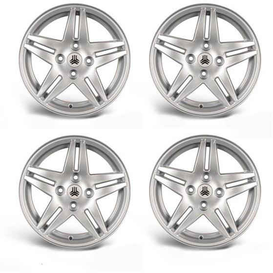 تصویر رینگ چرخ نقره ای Tiba سایز 14 اینچ بسته 4 عددی Danatak Wheel Rims Tiba