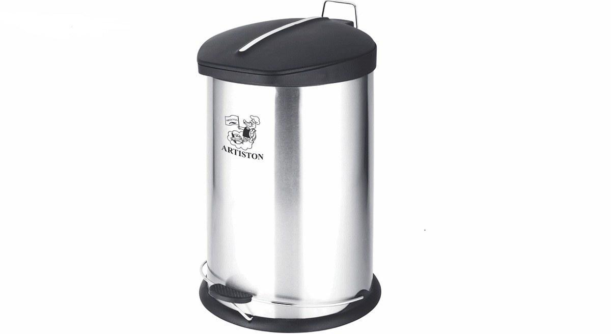 تصویر سطل زباله استیل پدالدار آرتیستون