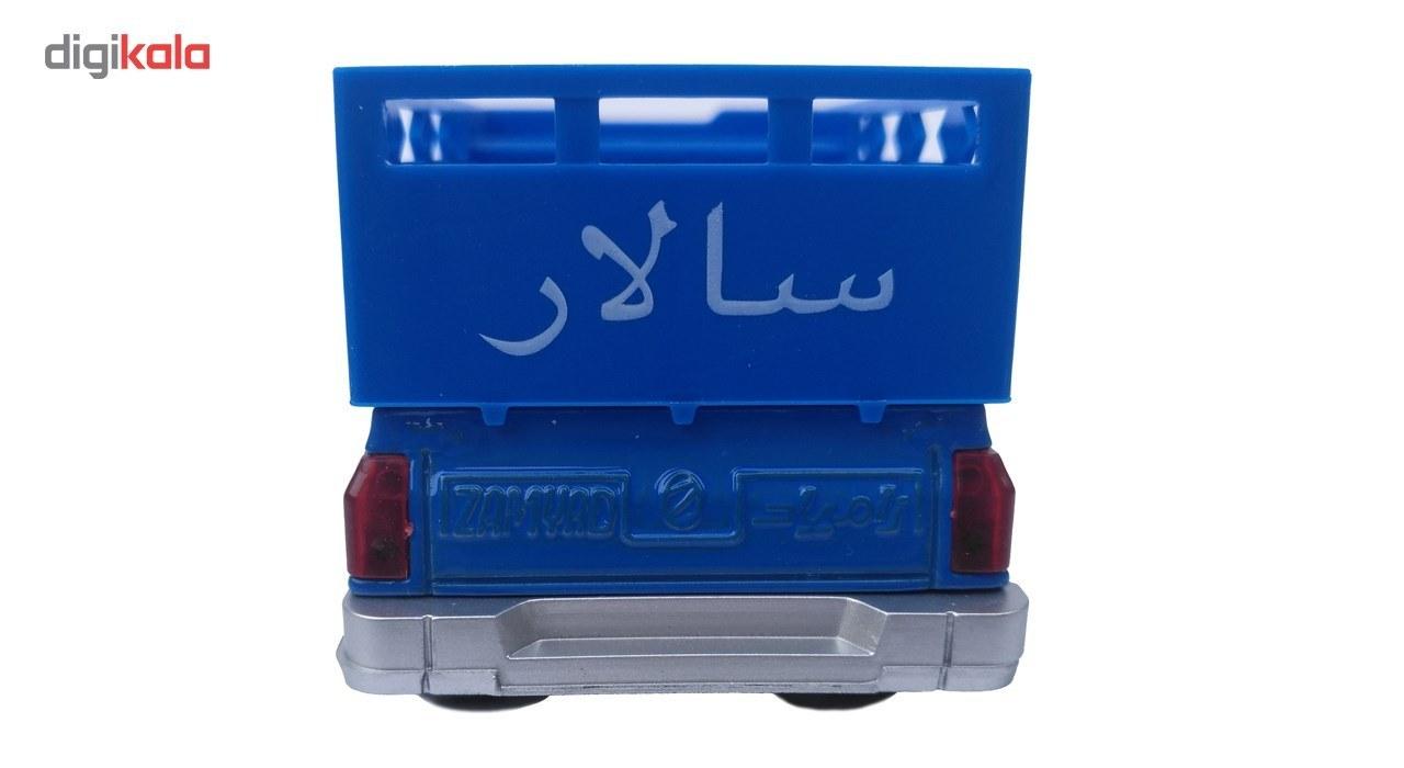 تصویر ماشین نیسان آبی سالار عقب کش صدادار BT100