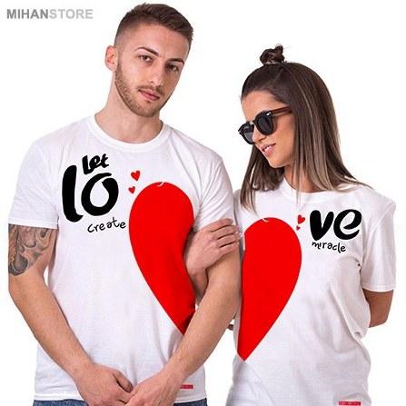 ست تی شرت مردانه و زنانه Love   Love Lovers Set