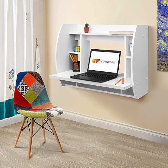 عکس میز تحریر کامپیوتر و کتابخانه دیواری مانیا مدل MNY_0065  میز-تحریر-کامپیوتر-و-کتابخانه-دیواری-مانیا-مدل-mny_0065