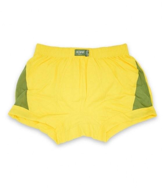 عکس شورت مردانه نخی نیم پا Adak آداک کد 177 طرح دو رنگ زرد سبز  شورت-مردانه-نخی-نیم-پا-adak-اداک-کد-177-طرح-دو-رنگ-زرد-سبز