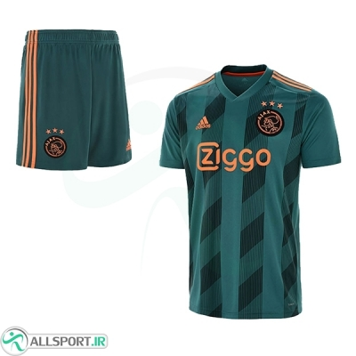 پیراهن شورت دوم آژاکس Ajax 2019-20 Away Soccer Jersey Kit Shirt+Short