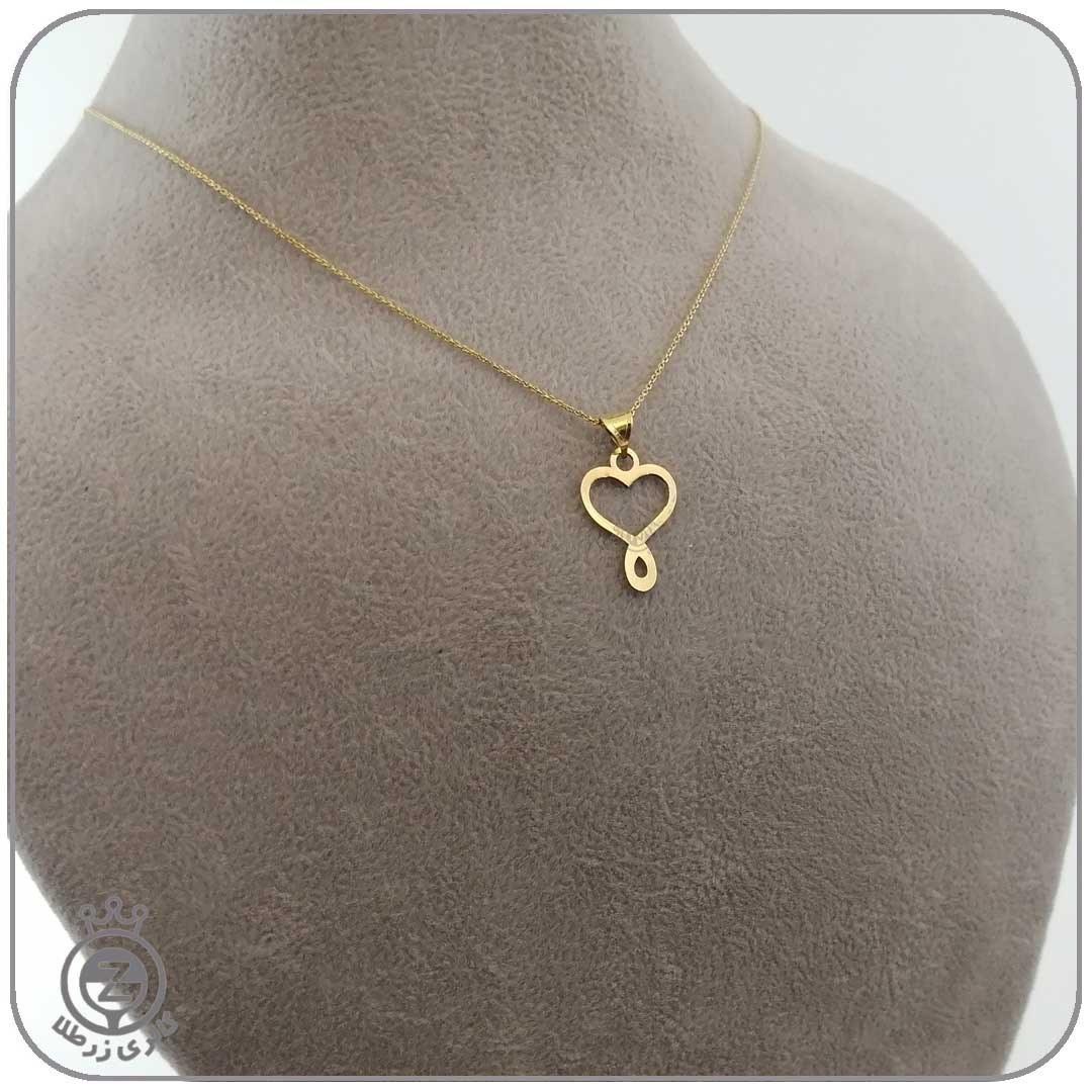تصویر گردنبند طلا زنانه طرح قلب 3