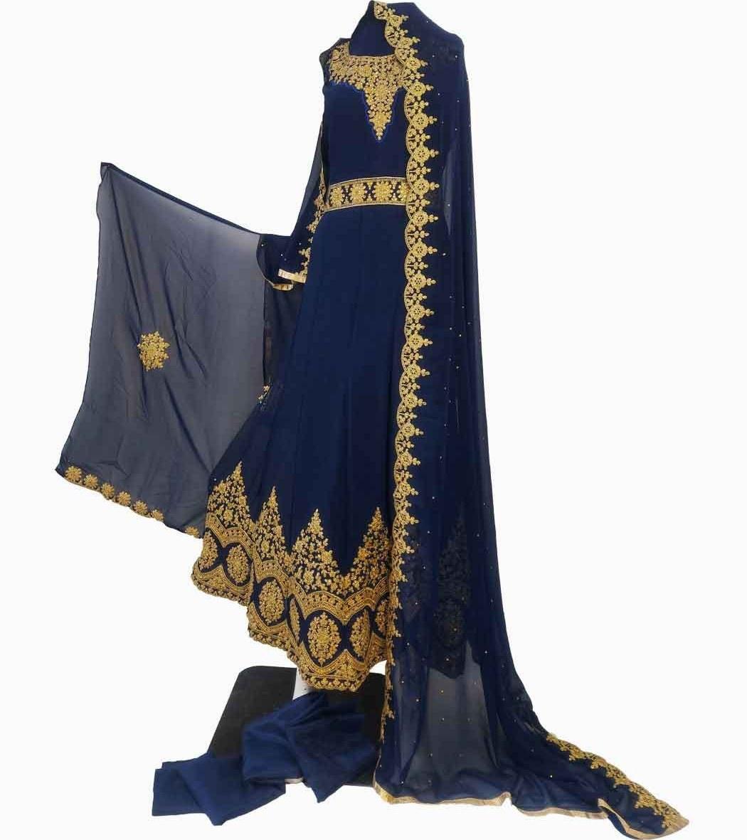 تصویر لباس پنجابی بلند کد KH-01048