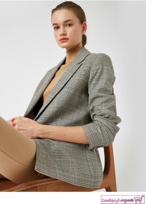 تصویر ژاکت زنانه نخی برند کوتون رنگ بژ کد ty35483874