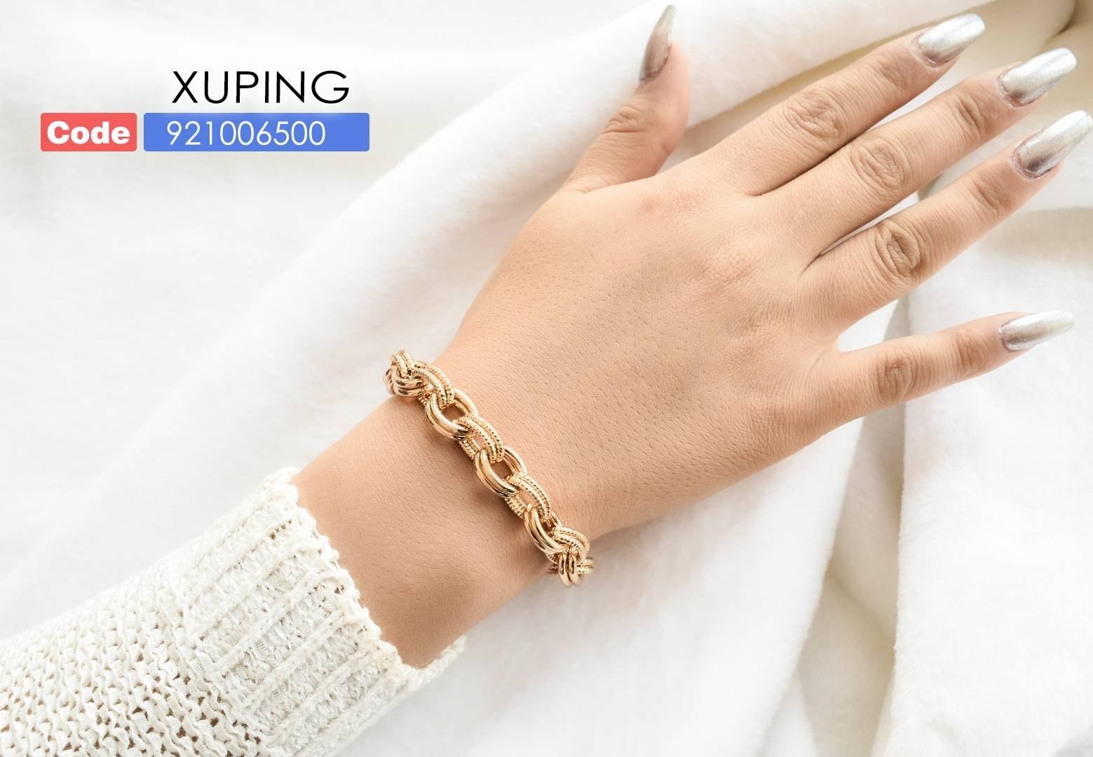 تصویر دستبند ژوپینگ طرح طلا