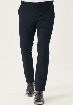تصویر خرید پستی شلوار مردانه پارچه نخی برند AC&Co رنگ لاجوردی کد ty121272029