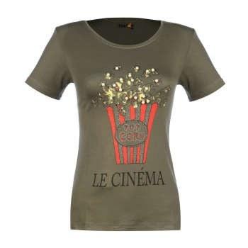 تی شرت زنانه ناندو استایل طرح پاپ کرون کد NS21  