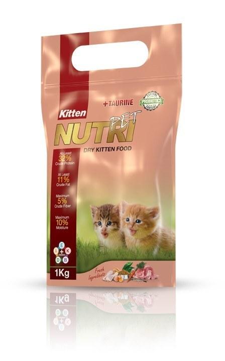 غذای خشک بچه گربه، ۱ کیلوگرمی، برند نوتری پت