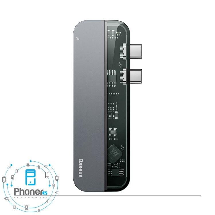 main images هاب USB-C مدل CAHUB-TS0G Transparent Series Dual Type-C Multifunctional HUB Adapter برند Baseus