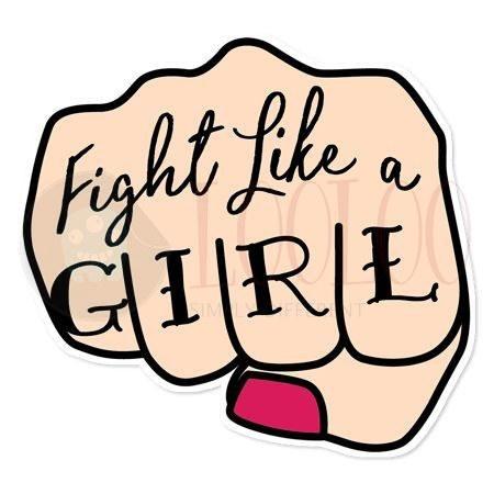 استیکر مثل دختر مبارزه کن لولو استیکر