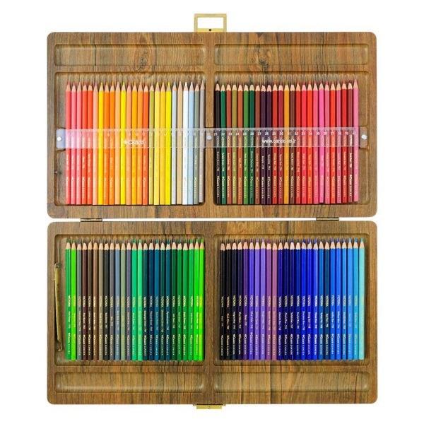 مداد رنگی 100 رنگ جعبه چوبی کنکو مدل ویکتوریا |