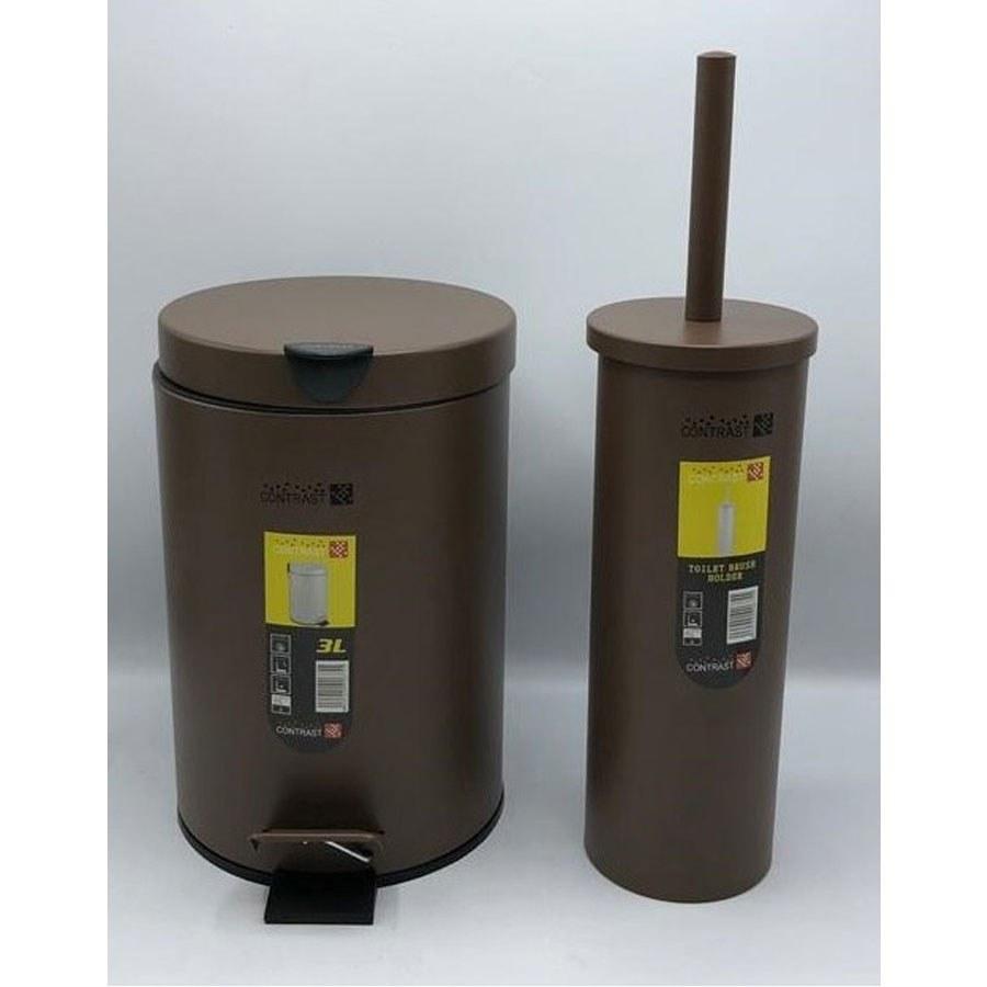 تصویر سطل و برس کنتراست مدل 008 قهوه ای سطل و برس کنتراست مدل 008 قهوه ای