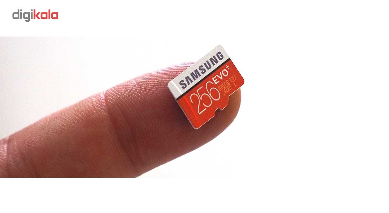 img سامسونگ 256 GB EVO Plus کلاس 10 UHS-I microSDXC U3 ... Samsung 256GB EVO Plus Class 10 UHS-I microSDXC U3 with Adapter (MB-MC256GA)